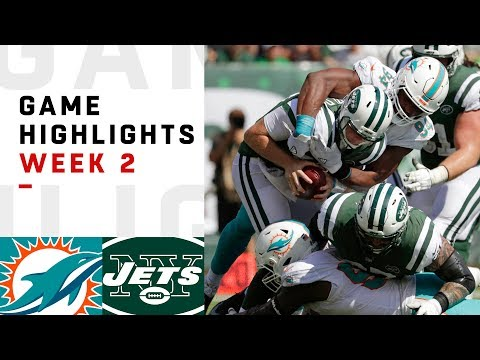 Dolphins vs. Jets Week 2 Highlights | NFL 2018 (видео)