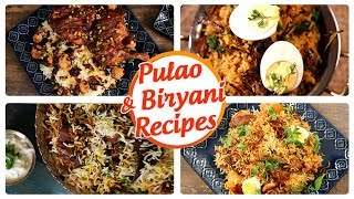 Get Curried wishes its audience, Ramzan and Eid Mubarak!!! Learn how to make delicious & easy Biryani and Pulao Recipes with our famous chefs only on Get Curried.We bring you amazingly delicious Biryani and Pulao recipes. Biryani lovers, rejoice! Watch and learn how to make Chicken Biryani, Hyderabadi Mutton Dum Biryani, Mutton Yakhni Pulao, Egg Biryani and Berry Pulao.Biryani and Pulao Menu:-Homemade Chicken Biryani  Ramadan Special Biryani Recipe  The Bombay Chef – Varun Inamdar - 0:06How To Make Hyderabadi Biryani  Hyderabadi Mutton Dum Biryani Recipe  Masala Trails With Smita Deo - 5:16Mutton Yakhni Pulao  Kashmiri Yakhni Pulao - Main course Recipe  The Bombay Chef - Varun Inamdar - 13:45Egg Biryani  Tasty And Restaurant Style Biryani Recipe  Masala Trails - 18:56Berry Pulao - Iranian Pulao Recipe - The Bombay Chef - Varun Inamdar - 25:53Host : Varun Inamdar, Smita Deo, Sneha NairEditing: Dinesh ShettyProducer: Rajjat A. BarjatyaCopyrights: Rajshri Entertainment Pvt LtdSubscribe and Get regular Updates: http://www.youtube.com/user/getcurried?sub_confirmation=1https://www.facebook.com/GetCurriedhttps://plus.google.com/+getcurriedhttps://twitter.com/Get_Curriedhttps://instagram.com/getcurried