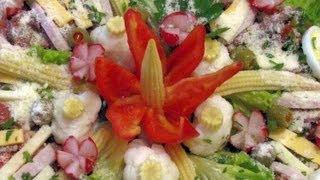 Como hacer Flores con Chile Pimiento y Rabanos - super fácil