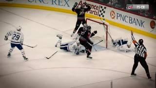 Matthews scores incredible goal while falling down by NHL