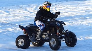 10. Polaris Outlaw 525 IRS 4-Stroke - First Test Ride (Winter 2017)