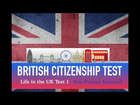 LIFE IN THE UK TEST 2017 - BRITISH Citizenship TEST (1 of 40)