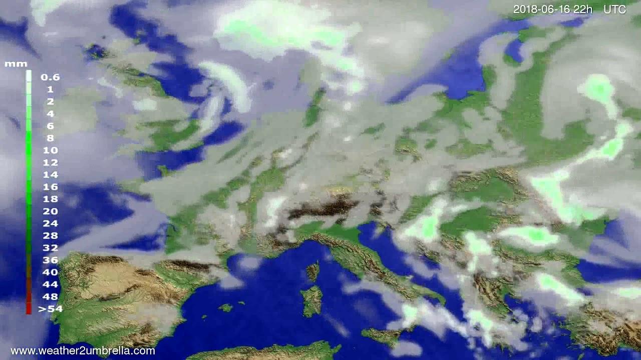 Precipitation forecast Europe 2018-06-14