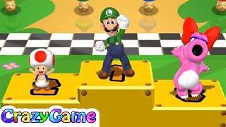 Mario Party 9 - Luigi, Toad vs Birdo, Waluigi (Garden Battle)