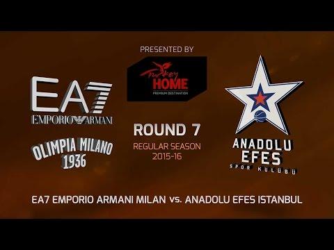 Highlights: RS Round 7, EA7 Milan 88-84 Anadolu Efes Istanbul