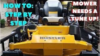 8. Oil Change on the Hustler~ Full Tune Up~How to