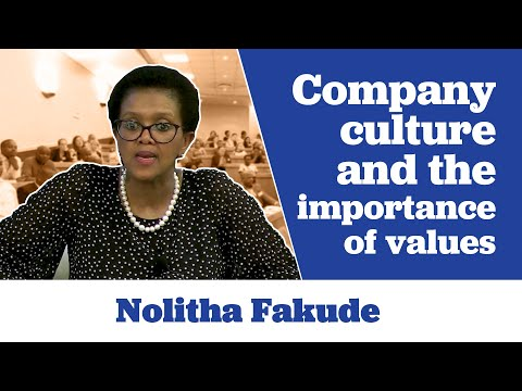 Nolitha Fakude on Company Culture and the Importance of Values