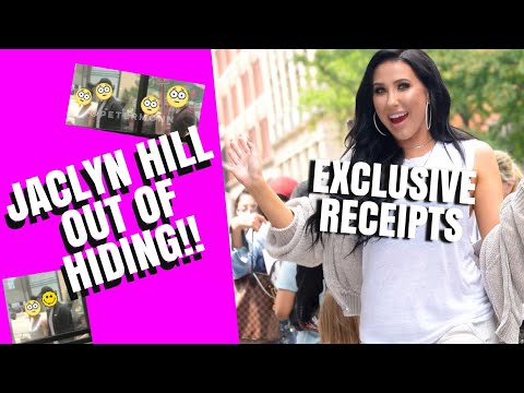 JACLYN HILL SPOTTED! COMES OUT OF HIDING | RECEIPTS!