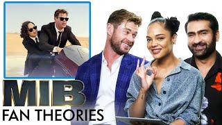 Men in Black Fan Theories with Chris Hemsworth, Tessa Thompson and Kumail Nanjiani   Vanity Fair