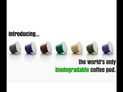 Certified biodegradable pods for Nespresso machines