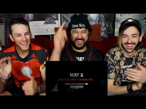 Captain America: Civil War Official Trailer #2 REACTION & REVIEW!!! (видео)