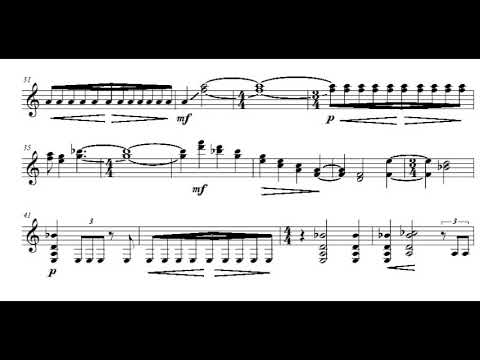 Sofia Gubaidulina – Serenade for Guitar (Score video)