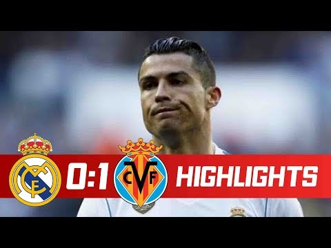 Real Madrid vs Villarreal 0-1 Resumen Highlights 13/01/2018