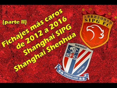 (II) Fichajes Super Liga China (2012-2016): Shanghai SIPG y Shanghai Shenhua