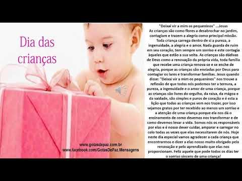 DIA DAS CRIANÇAS(ÁUDIO) - GOTASDEPAZ - MENSAGENS EDIFICANTES