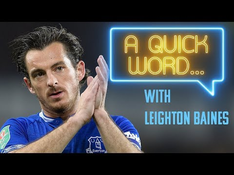 Video: A QUICK WORD: WORD ASSOCIATION WITH LEIGHTON BAINES!