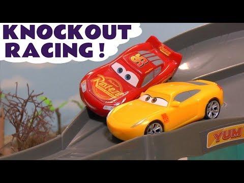 Disney Cars Toys McQueen Cars 3 Knockout Racing with Cruz Ramirez