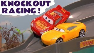Disney Cars Toys McQueen Cars 3 Knockout Racing with funny Minions & Hot Wheels Car for kids TT4U