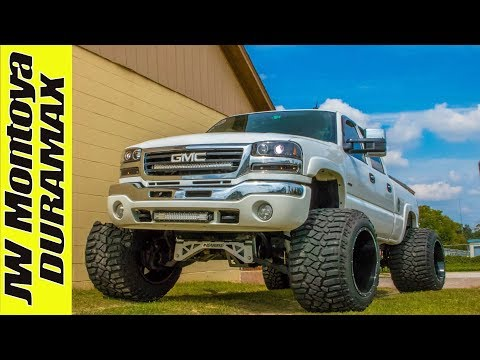 Nasty Stanced Duramax | 22x14 Anthem Wheels! |