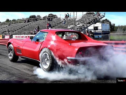 ultra rare 427 l88 corvette 1/4 mile drag race video