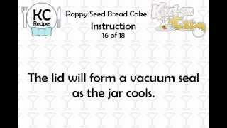 KC Poppy Seed Bread Cake YouTube video