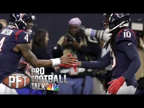 Video: Texans' Watson-to-Hopkins combo unstoppable, plus more from Week 17 | Pro Football Talk | NBC Sports