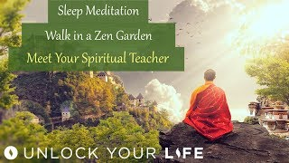 "This guided meditation takes you on a peaceful walk through a zen garden, to enjoy the sensory experience of the garden's beauty, through to a meditation room where you will meet with your spiritual teacher or guide.  You will be able to ask your spiritual master, guide or teacher some key questions, and they may also share some insights about a life lesson, a gift or a path that lies ahead for you, that you are not yet aware of for yourself.If you enjoy this, you may like other Spirit Guide Meditations and Hypnosis sessions from this playlist: Spiritual Hypnosis playlist: http://bit.ly/2dOtMXoRoyalty free music ""Untold Depths"" by Christopher Lloyd Clarke, licensed by Enlightened Audio, available from www.enlightenedaudio.comRoyalty free video footage from www.videezy.com and www.videvo.netDeep Sleep playlist: http://bit.ly/2dDf1oUPositive Daily Affirmations: http://bit.ly/2evKyqMSetting Boundaries and Assertiveness: http://bit.ly/2dTttYKHealing Hypnosis: http://bit.ly/2dWzBE2Self-Esteem playlist: http://bit.ly/2dOt9NFMeditations on Challenging Emotions: http://bit.ly/2oy6ckNGet $5 off a minimum $25 purchase on all mp3s (excluding the Think Yourself Slim Program) by using code UYL5 at www.unlockyourlifetoday.comSubscribe to Think Yourself Slim's Youtube Channel:http://bit.ly/1NbGwlXConnect on Facebook and gain access to exclusive offers and the occasional mp3 gift: http://www.facebook.com/unlockyourlifetodayUnlock Your Life Mp3s on iTunes: https://itunes.apple.com/artist/unlock-your-life/id1034660915Think Yourself Slim MP3s on iTunes:https://itunes.apple.com/artist/think-yourself-slim/id1009734404-----------------------------------------------------You must be of adult age in your state, or country or gain caregiver or parental approval to listen. These recordings are intended for relaxation, self-improvement and entertainment purposes only.   Hypnosis is not a replacement for any counseling or psychotherapy.  These recordings do not diagnose, cure or prevent any mental or physical health condition or illness or prevent any illness or condition of the body or mind, they cannot tell you what will happen to you in the future.  If you think or know you have a health issue, talk to your doctor before listening to any part of this recording.  Never delay, change or stop any treatment, medication or regime without consulting with your doctor or health care professional first.  Never change your lifestyle, including but not limited to diet, exercise, sleep or anything else without consulting with your doctor first and following his or her advice. If you ever feel unwell at any time while listening to these recordings, you must seek immediate medical attention.  You should continue taking regular medical check-ups.If you know you have any kind of mental health issues, you should NOT buy or listen to any of our hypnosis recordings. If you wish the benefits of hypnotherapy, ask your counselor or therapist.By listening to this recording you confirm that you have checked any suspected or confirmed mental or physical health condition with a doctor and you accept full responsibility for all outcomes.  You understand that hypnosis is merely a process of suggestion and you can always accept or reject the suggestions you receive.  You are always in control.   All hypnosis is self-hypnosis.  Therefore we cannot guarantee, (a) that you will get any results at all or; (b), that any results you do get will be permanent.Please only ever listen to any of these recordings when you are in a quiet space, ideally at home or in a quiet room.  Never listen to any of these recordings while driving or operating machinery or when required to remain alert to your environment as you may become very relaxed and may even fall asleep.All recordings are best listened to on headphones.All scripts are unique and protected by copyright law by © Sarah Dresser 2015 / 2016 /2017 and may not be transcribed, re-used or re-recorded in part or whole whether for public or private practice use.  All recordings are also copyright protected and are not permitted for public broadcasting, or any form of paid or unpaid distribution other than for private, individual use.  These recordings may be removed or deleted at any time with no notice."