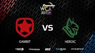 FarmSkins WCA || Gambit vs Heroic map1 || @Toll & @Deq