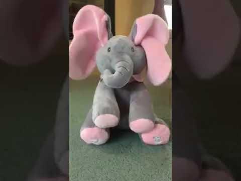 PEEK A BOO FLAPPY ELEPHANT PLUSH TOY