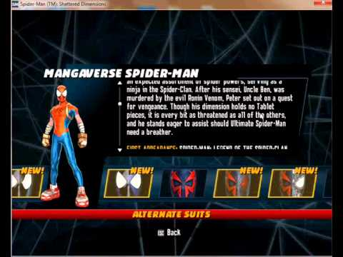 spider man shattered dimensions pc cheats