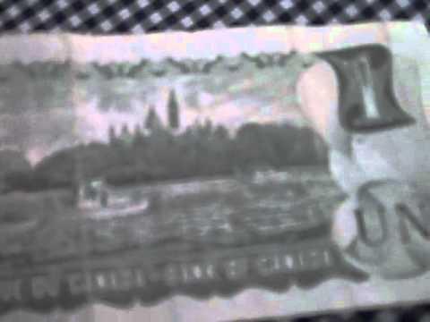 $1 Bill from Canada