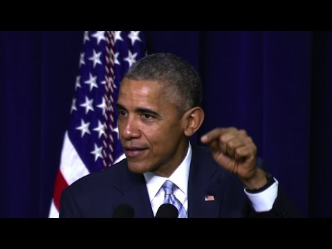 Obama pokes fun at GOP critics of healthcare reform