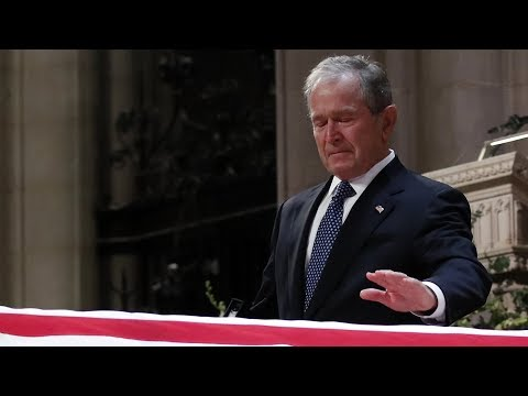 George W. Bush Delivers Emotional Eulogy for His Father George H.W. Bush