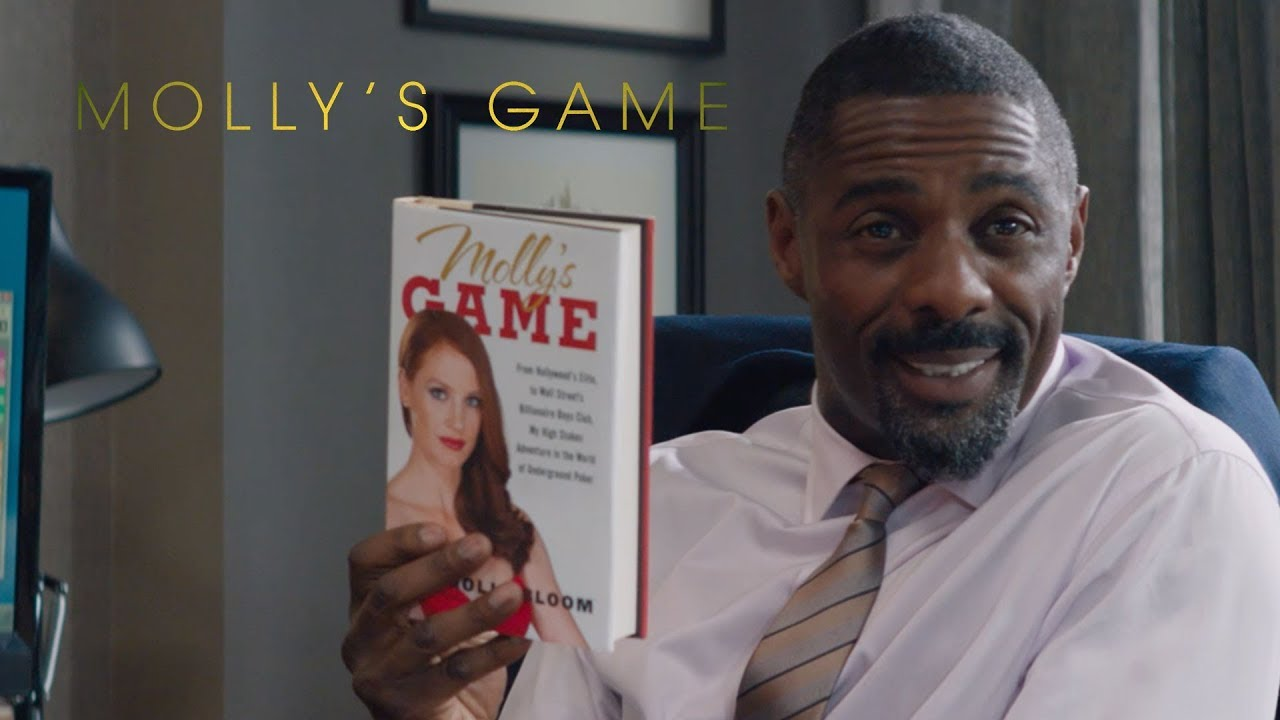 Let's Play. Based on a True Story watch Jessica Chastain in Aaron Sorkin's 'Molly's Game' (Clip) with Idris Elba & More