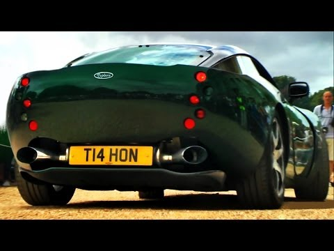 TVR Typhon – BURNOUT, revs and sounds! (One of the rarest cars in the World!)