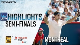 Watch highlights from the Montreal semi-finals, as Roger Federer and Alexander Zverev set a clash for the Coupe Rogers crown.