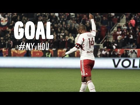 Red - Goal! New York Red Bulls 3, Houston Dynamo 0. Thierry Henry (New York Red Bulls) right footed shot from the center of the box to the center of the goal. Subscribe to our channel for more...