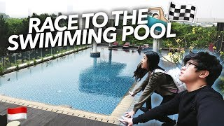 Video EPIC RACE TO THE SWIMMING POOL!! | Ranz and Niana MP3, 3GP, MP4, WEBM, AVI, FLV Februari 2019