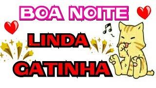 Mensagem de carinho - Boa Noite Minha Linda Gatinha_Mensagem para Uma Boa Noite