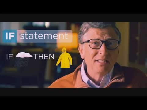 Programming Lessons by Bill Gates - how to use IF statement (Best Way to Learn Computer Programming)