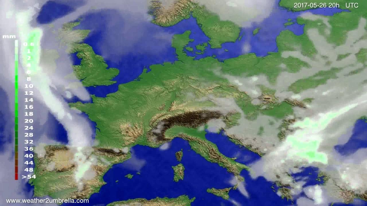 Precipitation forecast Europe 2017-05-24