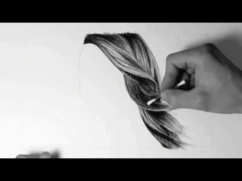 Wie zeichne ich Haare / how to draw hair – HD Video mit Audiokommentar (german)