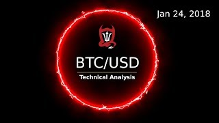 Bitcoin Technical Update (BTCUSD) : Two Counts to Consider. Who Wins..? [01/24/2018]