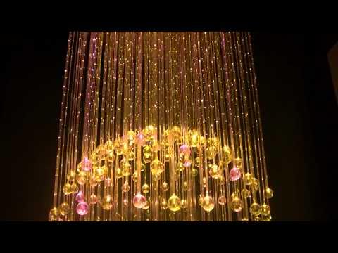 Żyrandole Światłowodowe Kula , światłowodowa lampa, piękne lampy