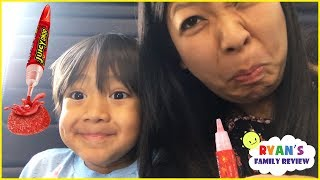 Nonton Sour Candy Challenge Kid on the Airplane Surprise Toys Opening with Ryan's Family Review Film Subtitle Indonesia Streaming Movie Download
