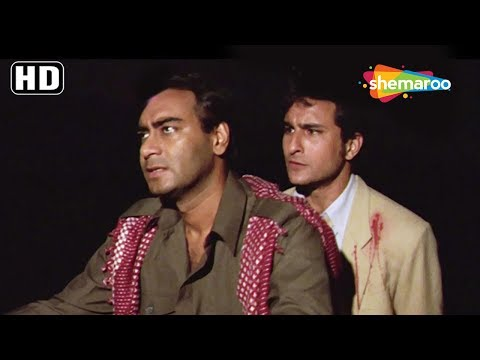 Funny movies - Ajay Devgn & Saif Ali Khan funny scene - Kachche Dhaage [1999] - Best Action Hindi Movie