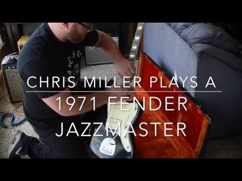Chris Miller plays a Black 1971 Fender Jazzmaster