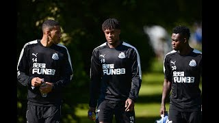Player reaction to Newcastle United's pre-season training camp in Ireland.