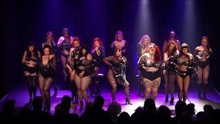 Glam Rock Burlesque students perform Black Widow - The Bombshell Burlesque Academy