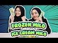 Cobain Ice Cream Milo Vs Frozen Milo #CekOmbak